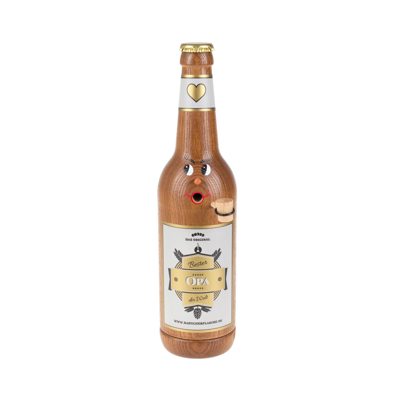 "Räucherflasche Bier Longneck 0,5 braun - ""Bester Opa"""