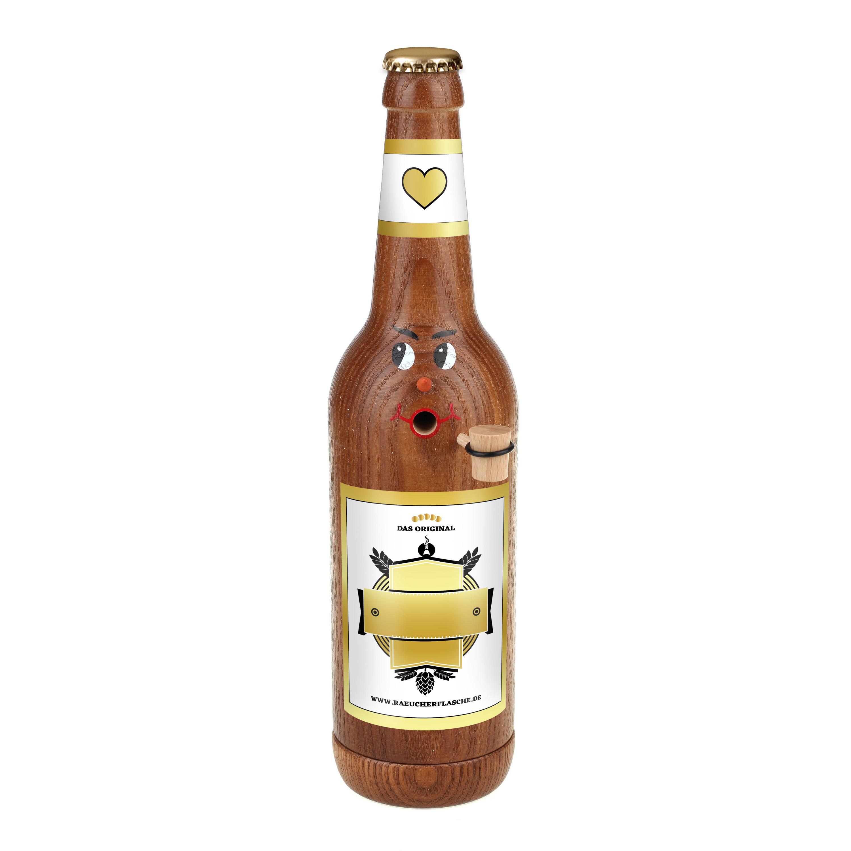 """Räucherflasche Bier Longneck 0,5 braun - """"Besten - zur Selbstgestaltung"""""""