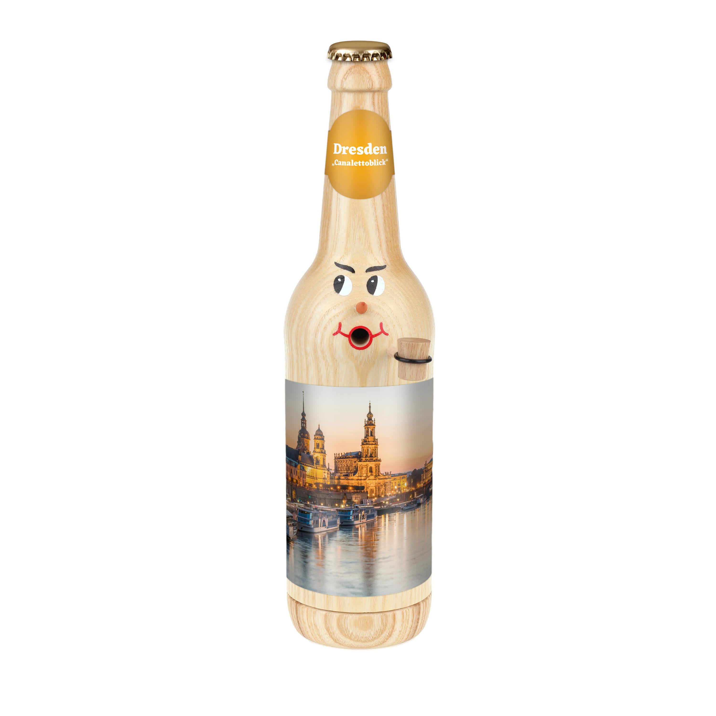 """Räucherflasche Bier Longneck 0,5 natur - """"Dresden Canalettoblick"""""""