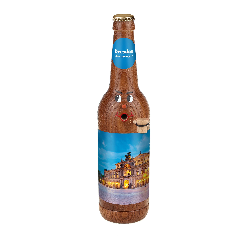 """Räucherflasche Bier Longneck 0,5 braun - """"Dresden Semperoper"""""""