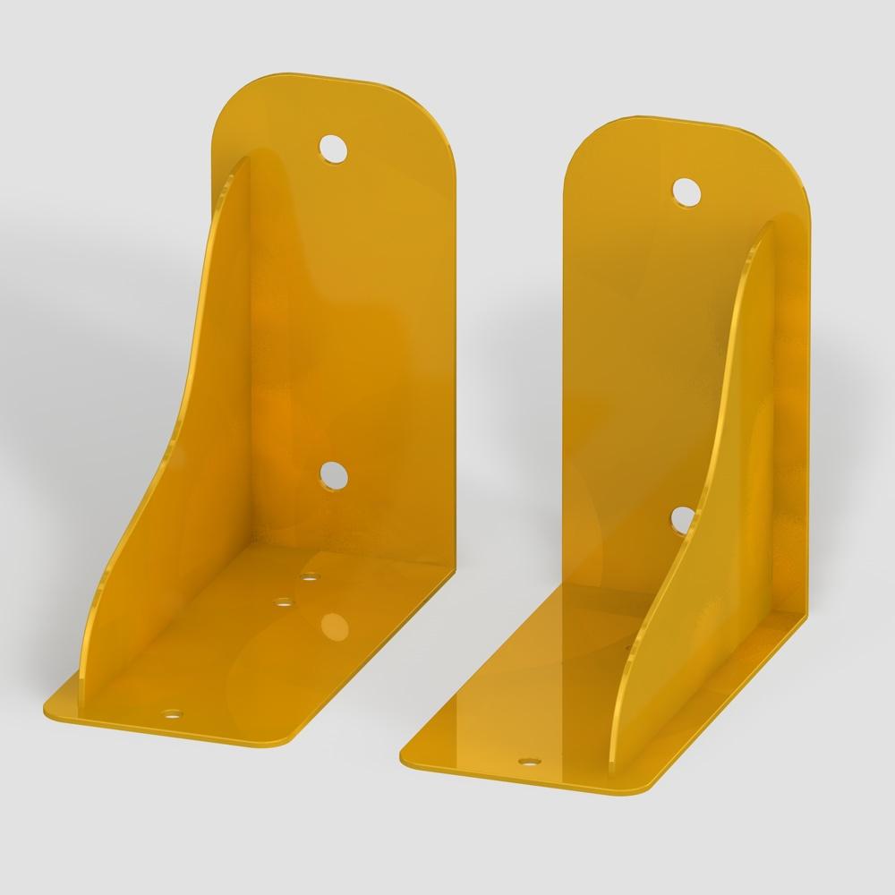 Wandhalterung gelb für Außenschwibbögen (Fußball)