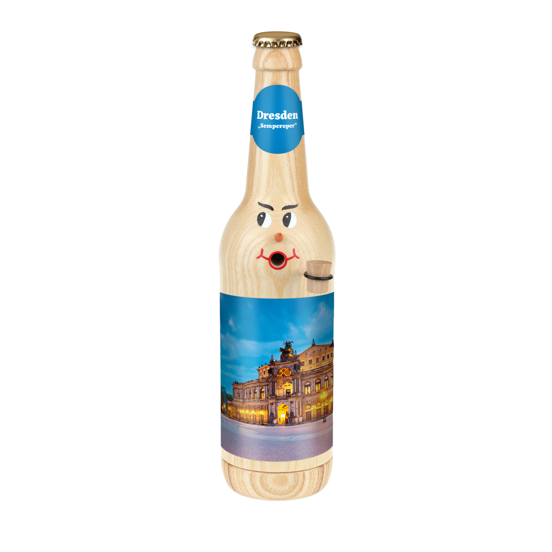 "Räucherflasche Bier Longneck 0,5 natur - ""Dresden Semperoper"""