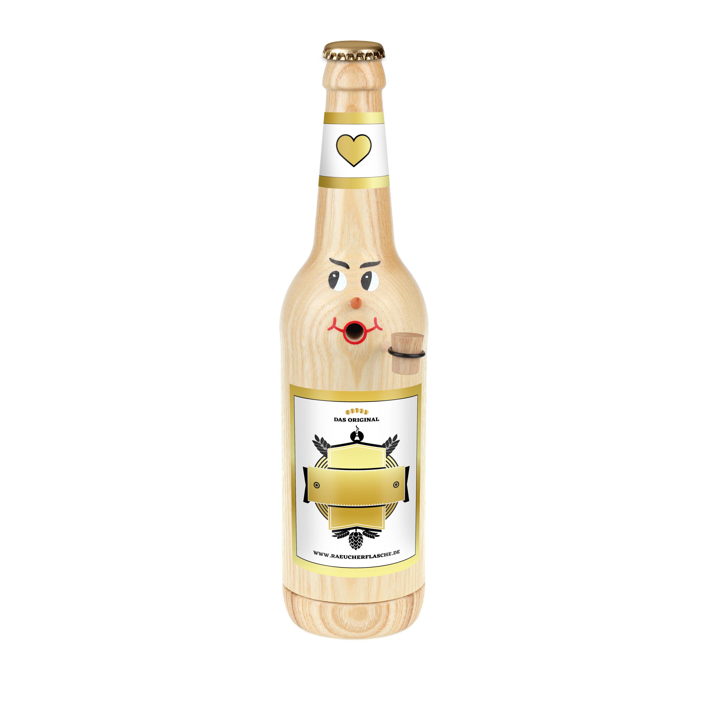 """Räucherflasche Bier Longneck 0,5 natur - """"Besten - zur Selbstgestaltung"""""""