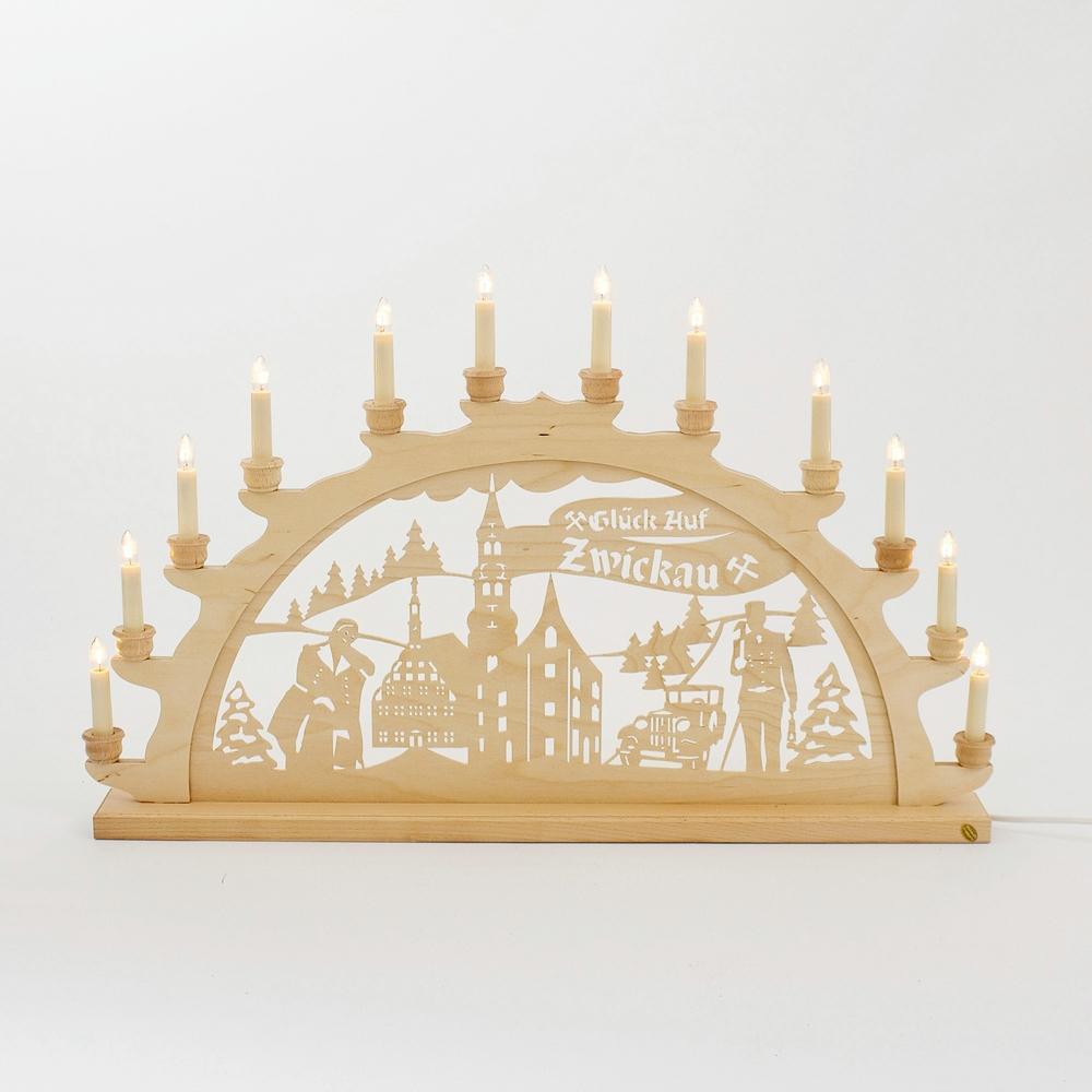 Holz-Schwibbogen Zwickau - 70 cm