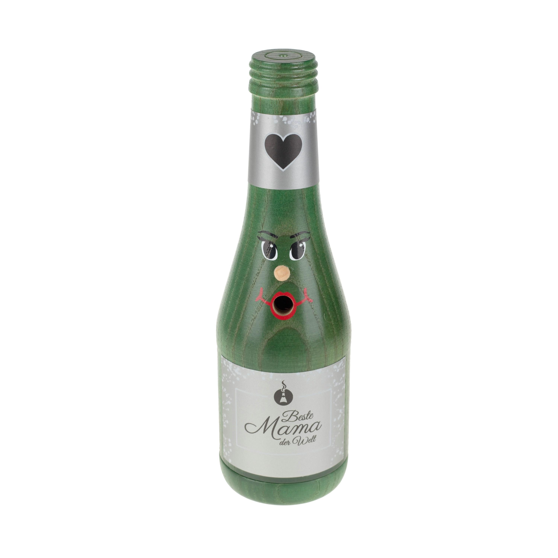 """Räucherflasche Sekt  0,2 grün - """"Beste Mama"""""""