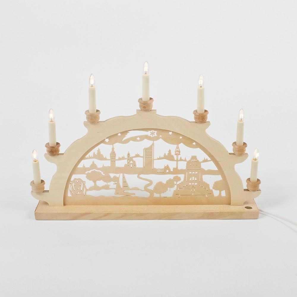 Holz-Schwibbogen Leipzig - 50 cm