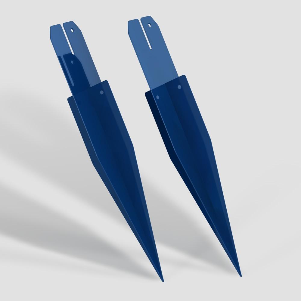 Erdspieße ultramarinblau für Außenschwibbogen (Fußball)