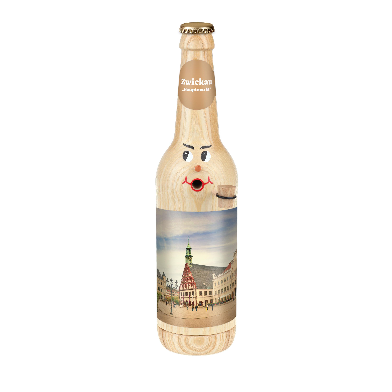 "Räucherflasche Bier Longneck 0,5 natur - ""Zwickau Hauptmarkt"""