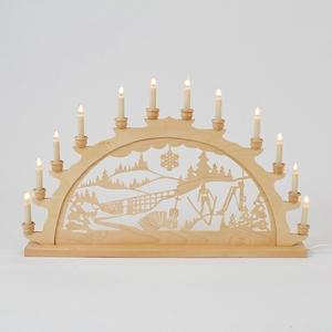 Holz-Schwibbogen Vogtland - 70 cm