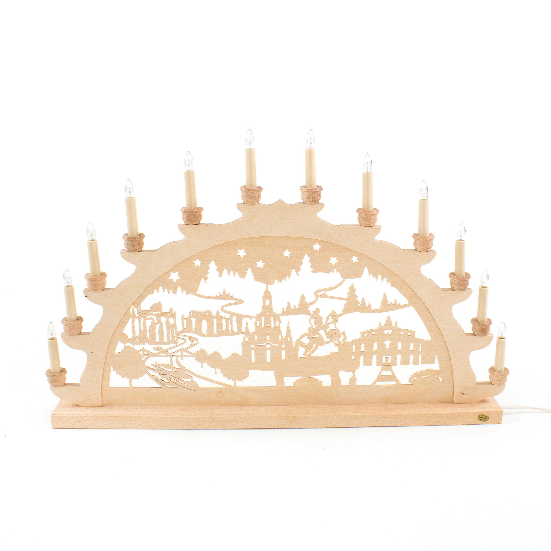 Holz-Schwibbogen Dresden - 70 cm