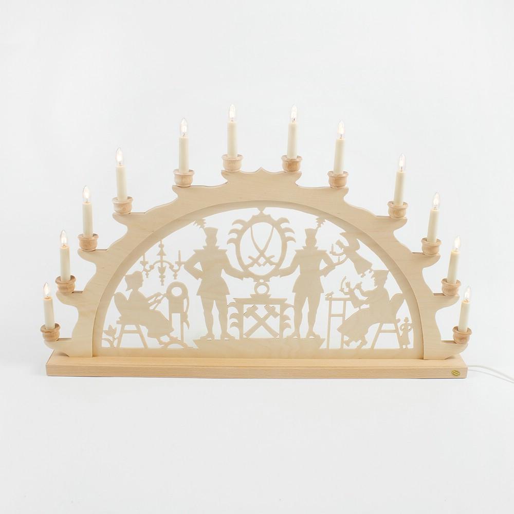 Holz-Schwibbogen Bergmann - 70 cm