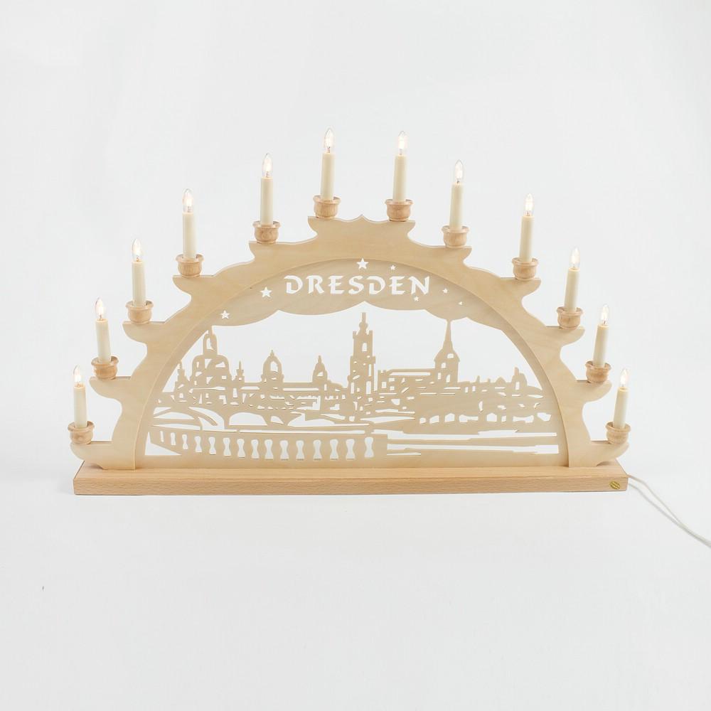 Holz-Schwibbogen Dresden Canalettoblick - 70 cm