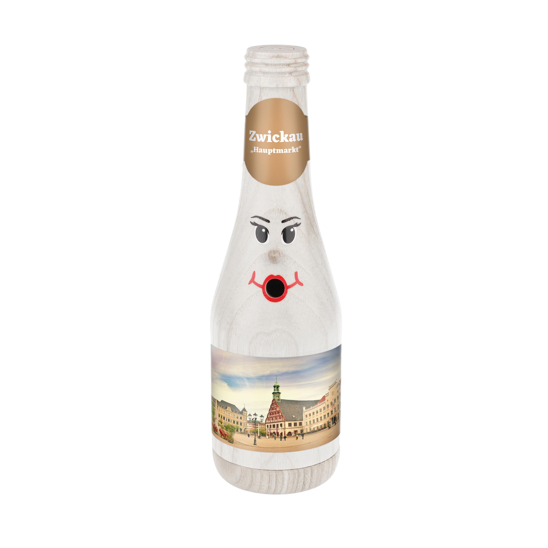 """Räucherflasche Sekt 0,2 weiß - """"Zwickau Hauptmarkt"""""""