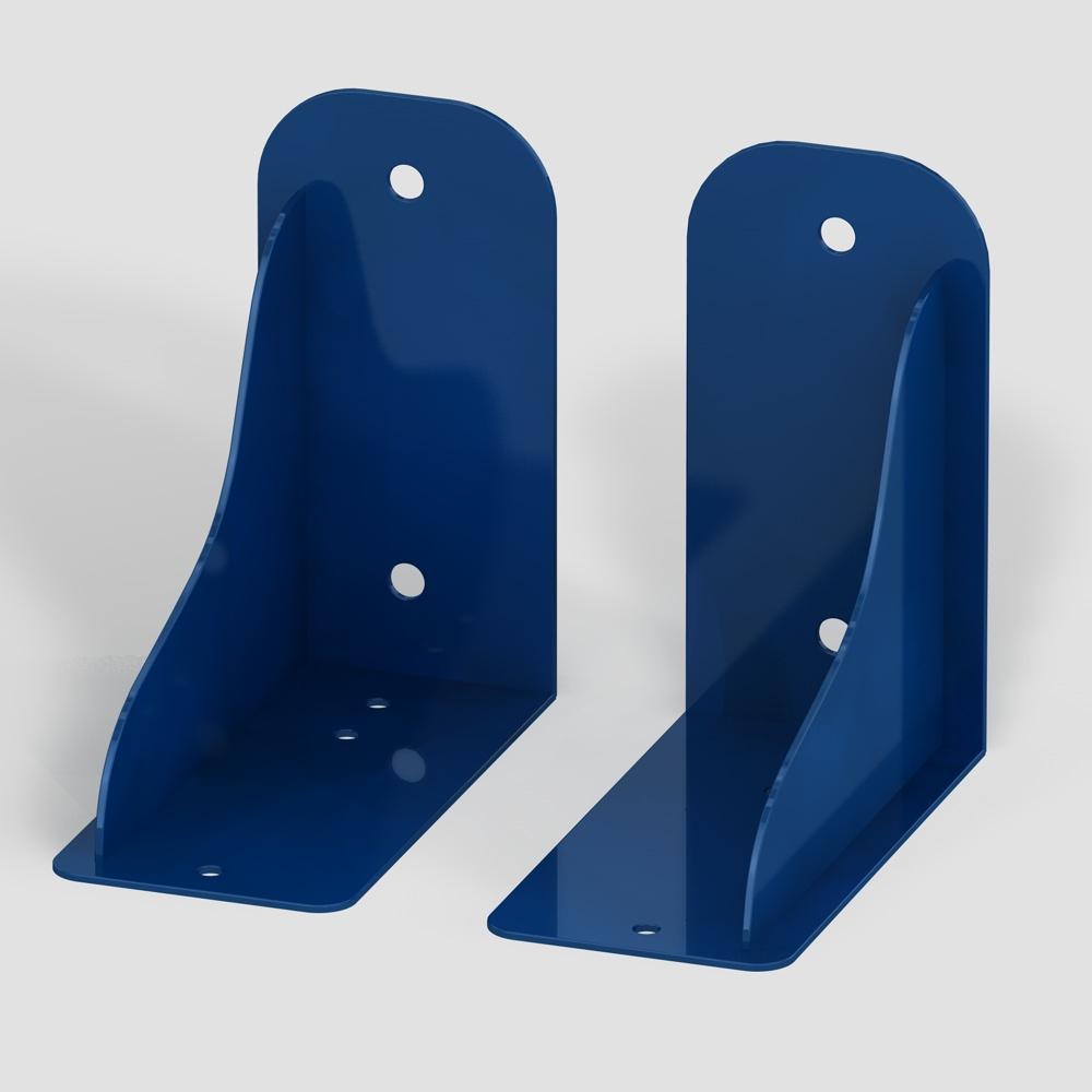 Wandhalterung ultramarinblau für Außenschwibbögen (Fußball)