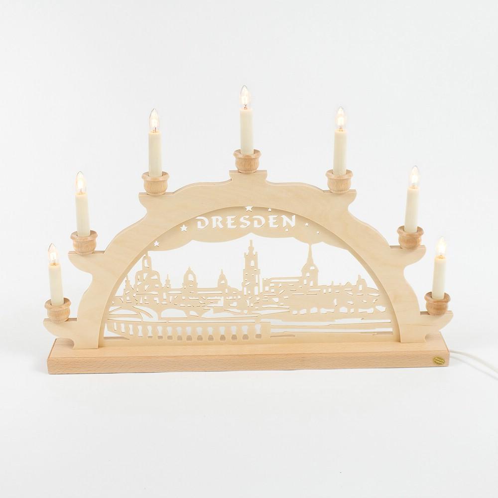 Holz-Schwibbogen Dresden Canalettoblick - 50 cm