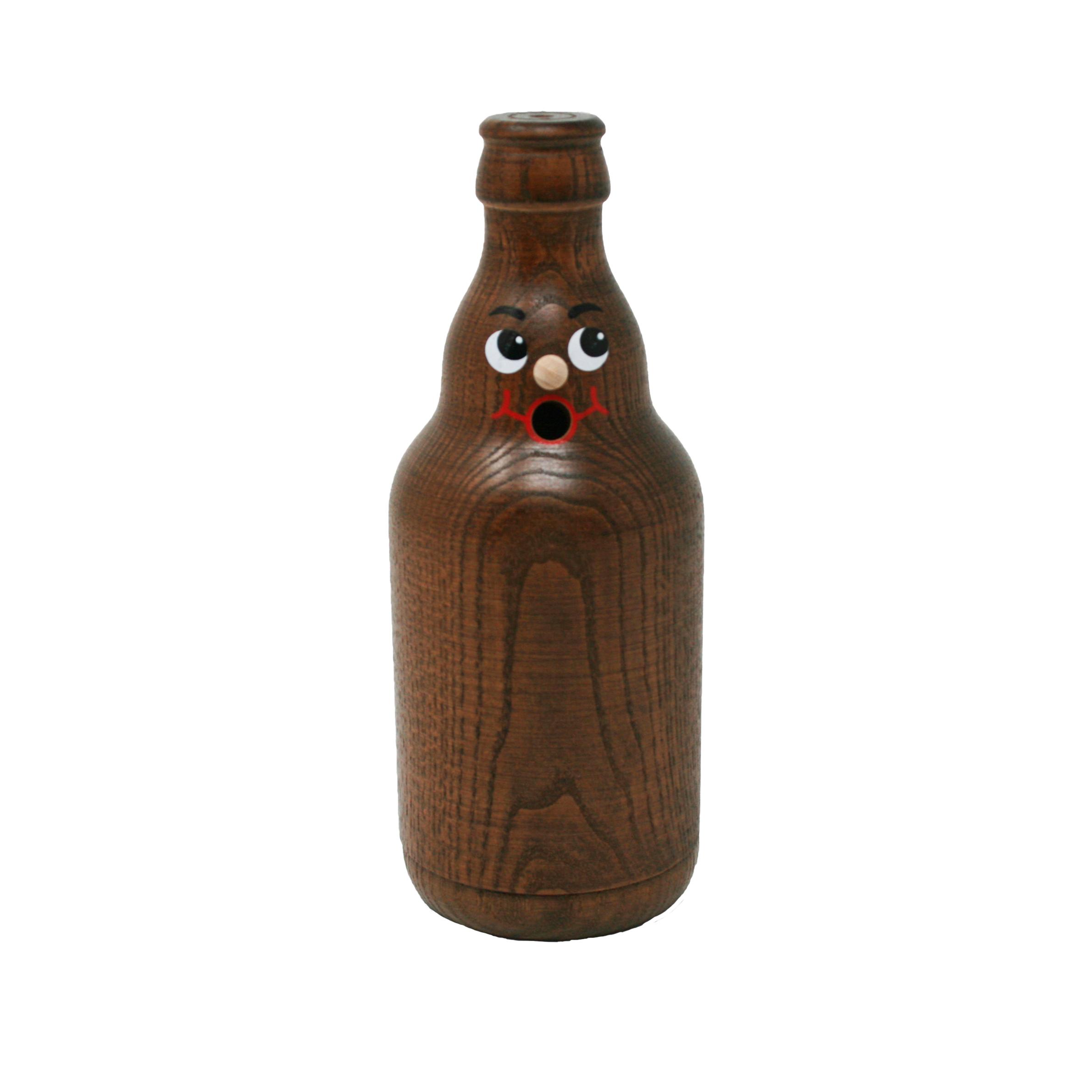 """Räucherflasche Bier Knolle (Steinieform) """"Stubbi"""" 0,33l - braun"""