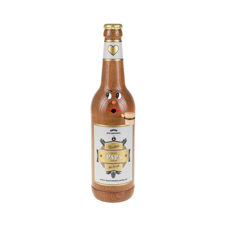 "Räucherflasche Bier Longneck 0,5 braun - ""Bester Papa"""