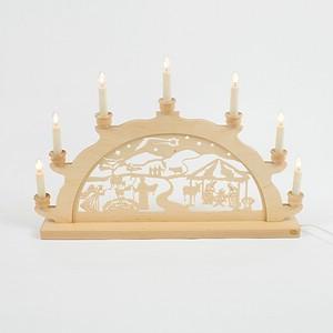 Holz-Schwibbogen Geburt Jesus Christus - 50 cm