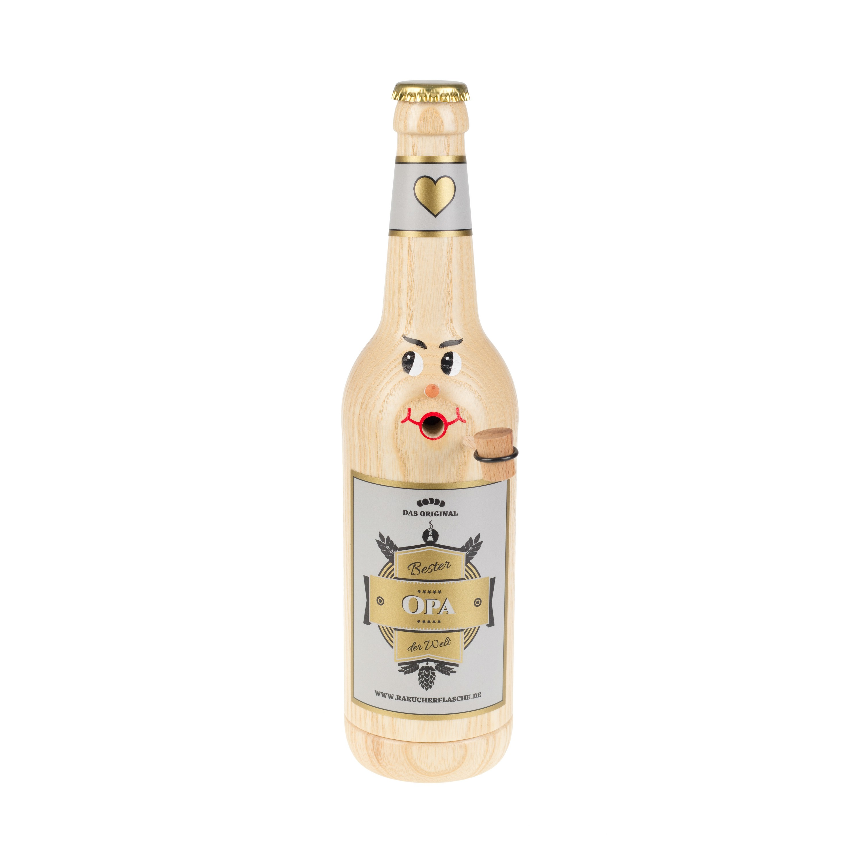 "Räucherflasche Bier Longneck 0,5 natur - ""Bester Opa"""
