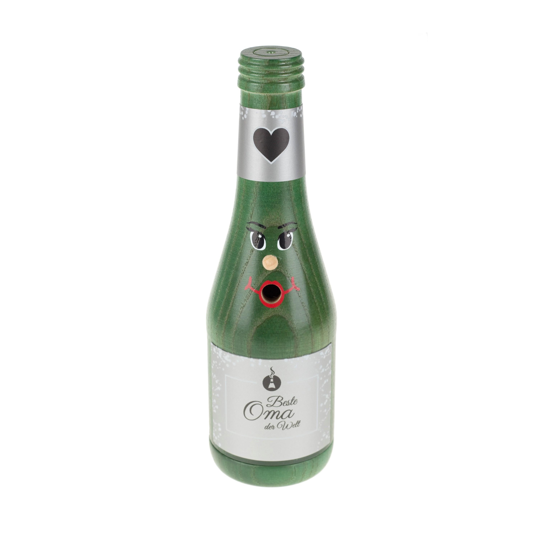 """Räucherflasche Sekt 0,2 grün - """"Beste Oma"""""""