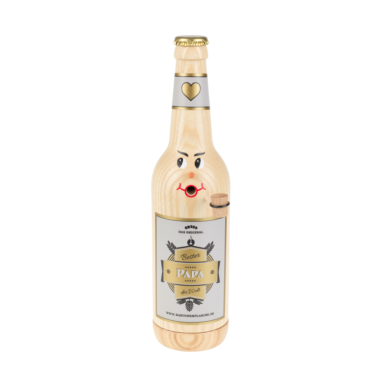 "Räucherflasche Bier Longneck 0,5 natur - ""Bester Papa"""