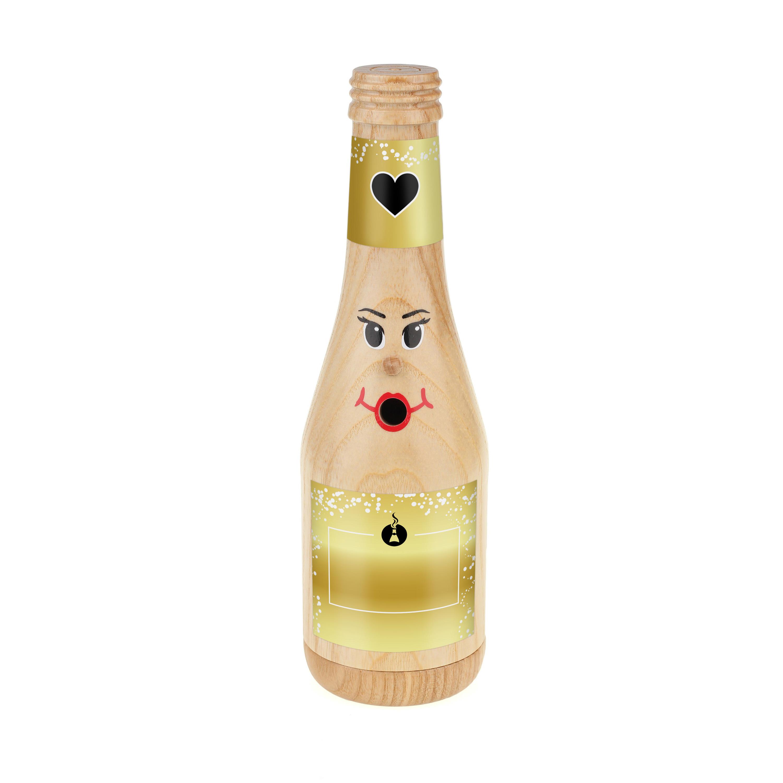 """Räucherflasche Sekt 0,2 natur - """"Besten - zur Selbstgestaltung"""""""
