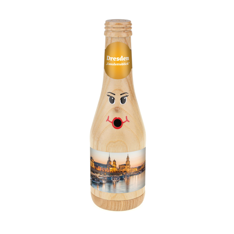 "Räucherflasche Sekt 0,2 natur - ""Dresden Canalettoblick"""