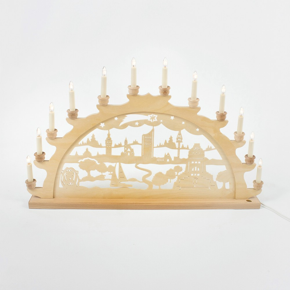 Holz-Schwibbogen Leipzig - 70 cm