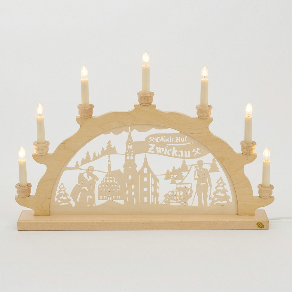 Holz-Schwibbogen Zwickau - 50 cm