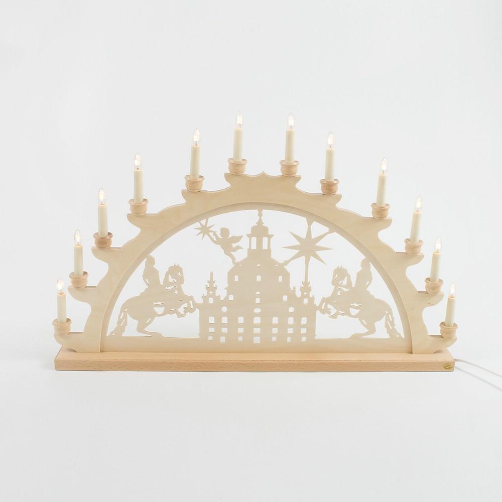 Holz-Schwibbogen Dresden Frauenkirche - 70 cm